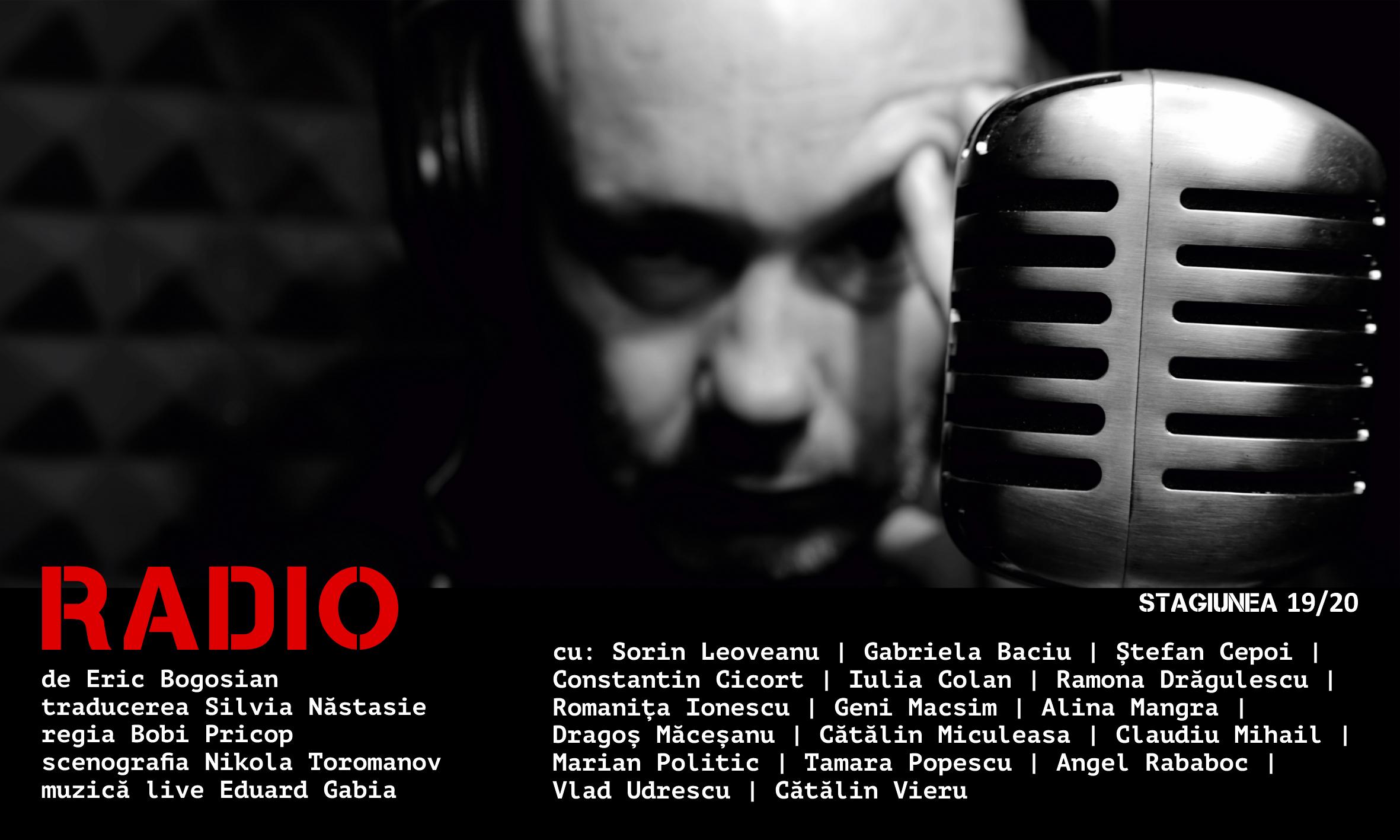 PREMIERĂ la Teatrul Național Marin Sorescu Craiova ♦ Radio ♦ regia Bobi Pricop